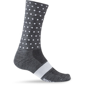 Giro Seasonal Merinovillasukat, charcoal/white dots